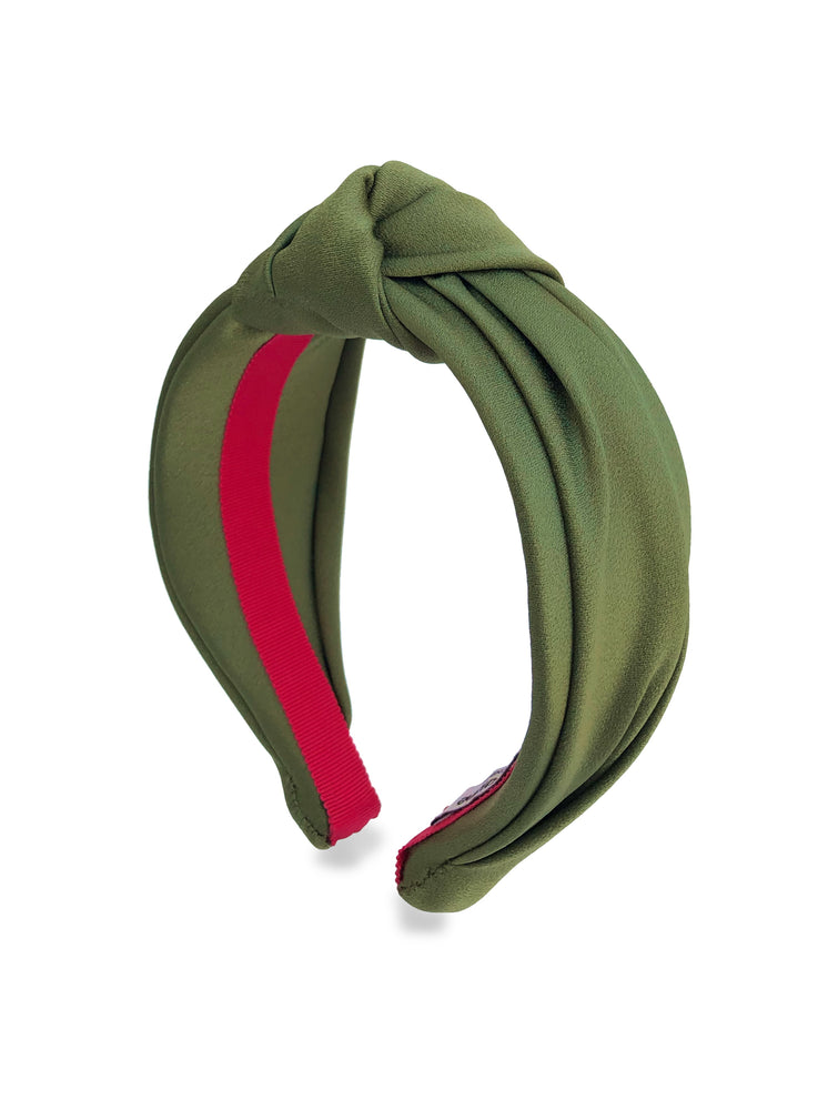 Moss Green Top Knot Headband