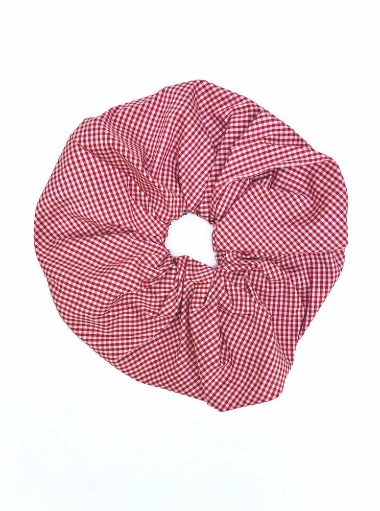 Gingham Oversized Scrunchie