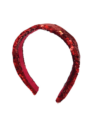 Natalie Party Red Flat Headband