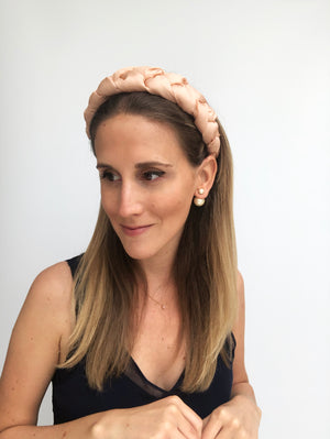 Load image into Gallery viewer, Salmon Pink Braided Headband