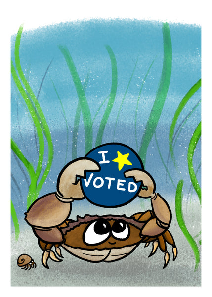 I Voted - Dungeness Crab