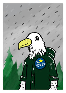 I Voted - Eagle
