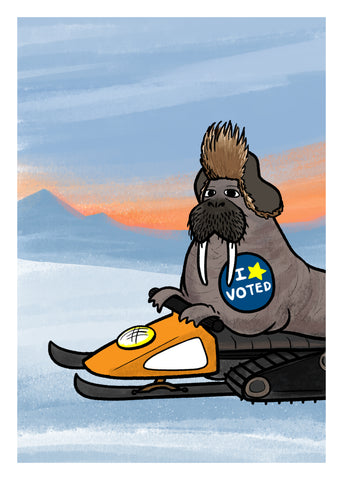 I Voted - Walrus