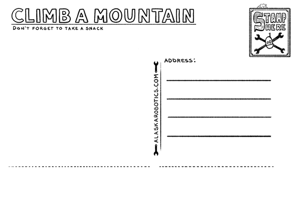 Climb a Mountain Postcard