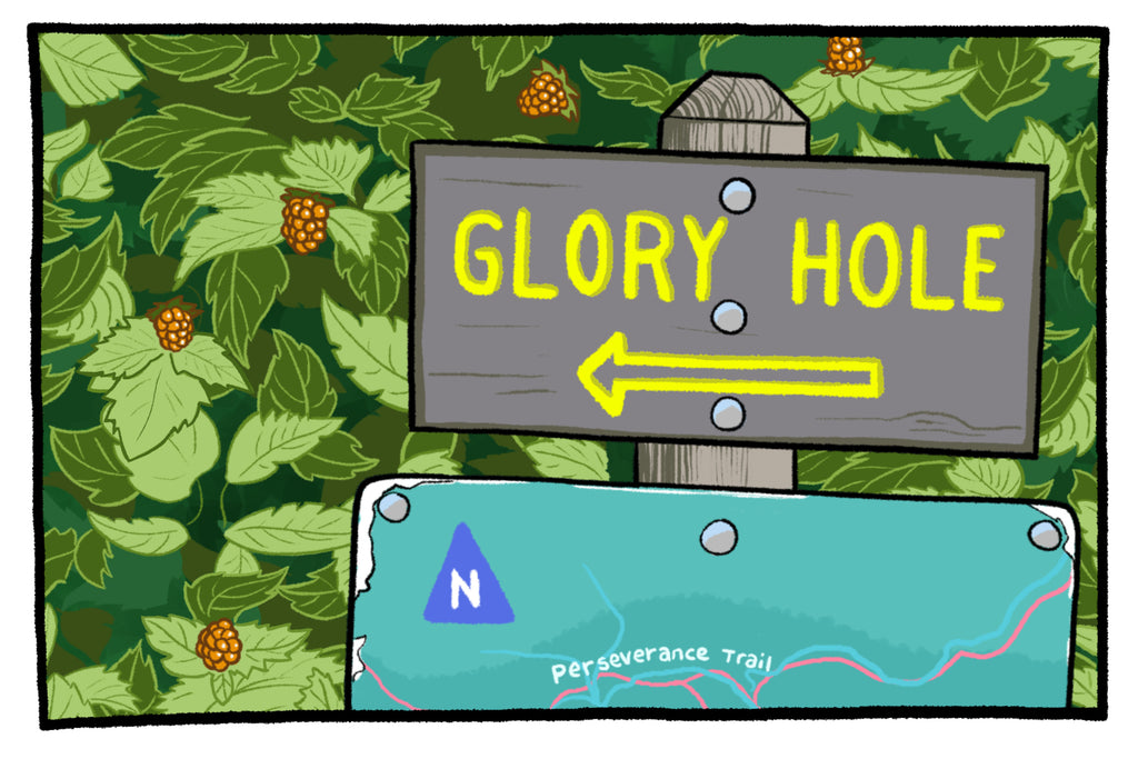 Glory Hole - Postcard