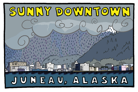 Sunny Downtown Postcard