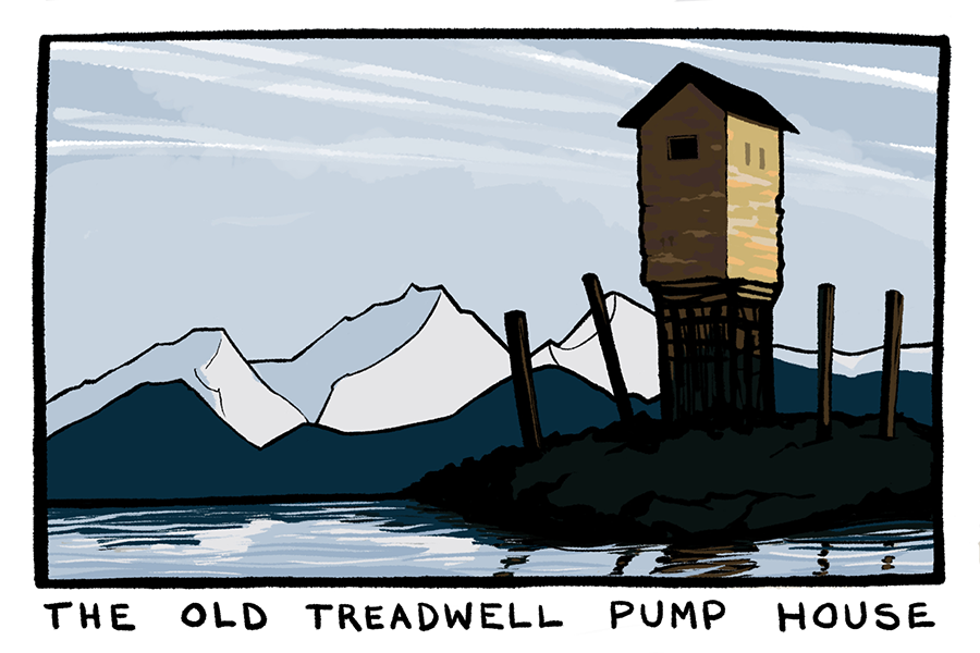 Treadwell Pump House Postcard