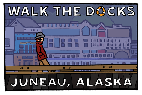 Walk the Docks Postcard