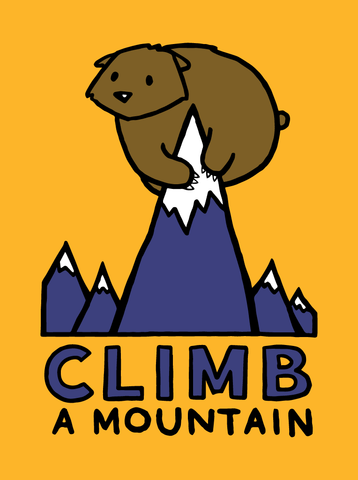 Climb a Mountain - Adult T-Shirt