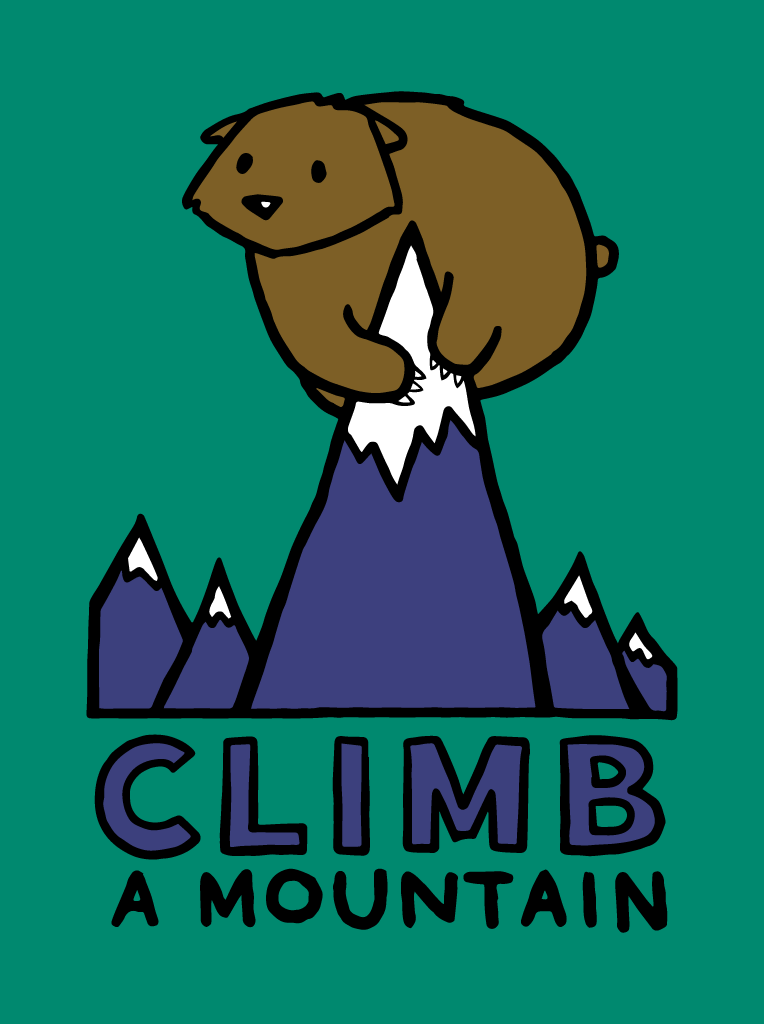 Climb a Mountain - Kids T-Shirt