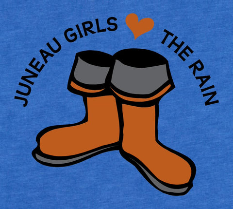 Juneau Girls Love the Rain - Baby Onesie