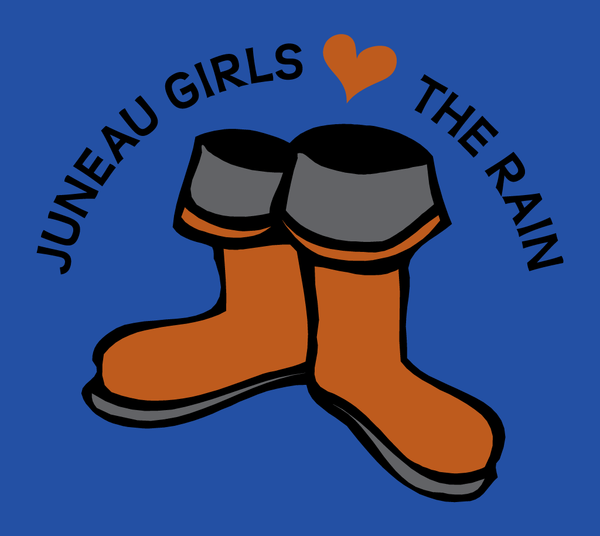 Juneau Girls Love the Rain - Kids T-Shirt