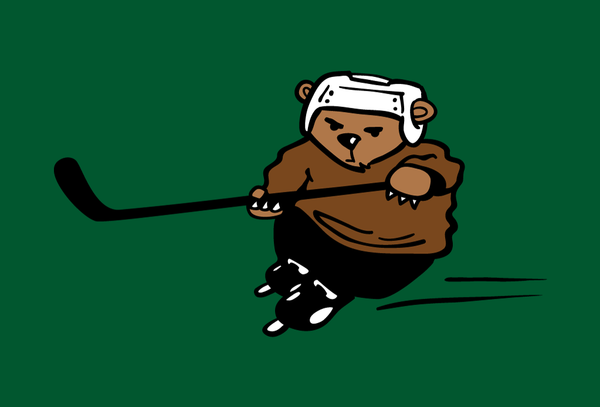 Hockey Bear - Adult T-Shirt