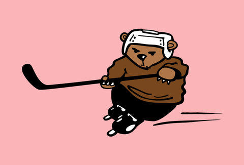 Hockey Bear - Baby Onesie