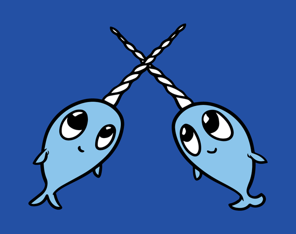 Narwhal Friends - Baby Onesie