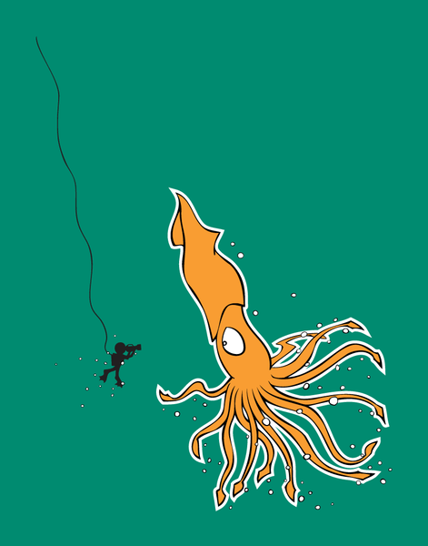 Giant Squid - Kids T-Shirt