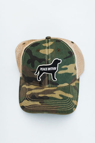Trucker Hat, Camo Dog