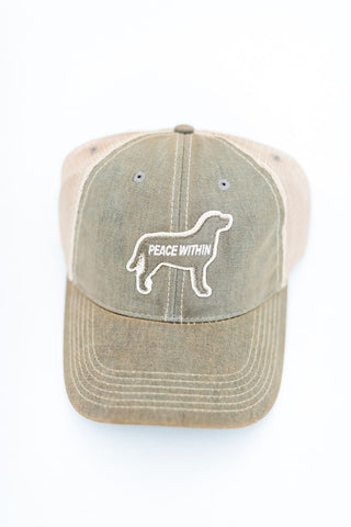 Trucker Hat, Gray Dog