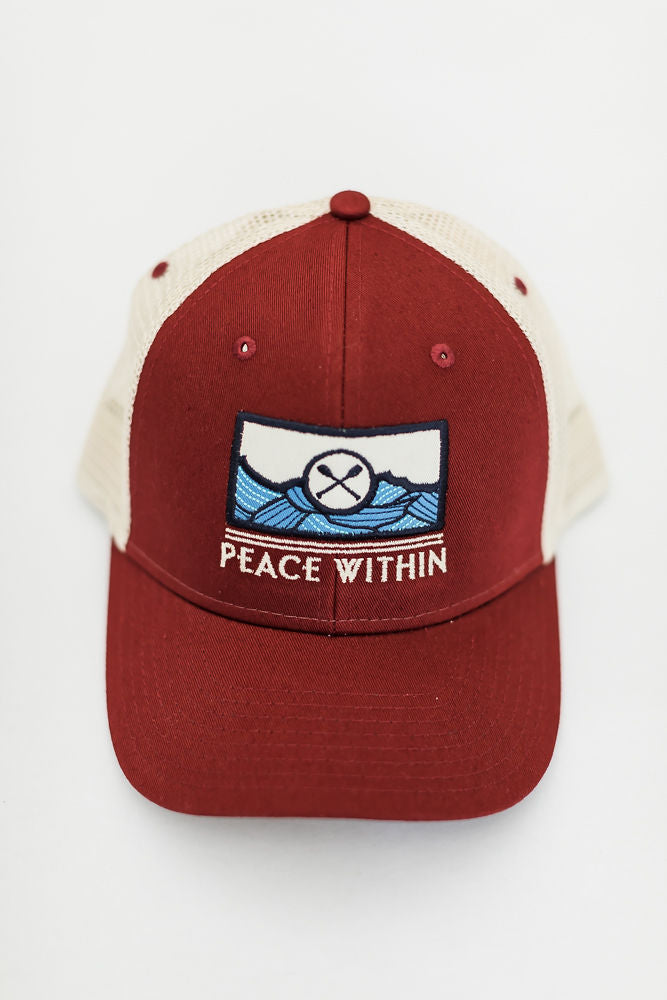 Trucker hat, Brick / blue OARS
