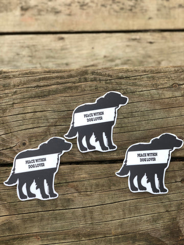 Dog Lover Sticker (3 pack)