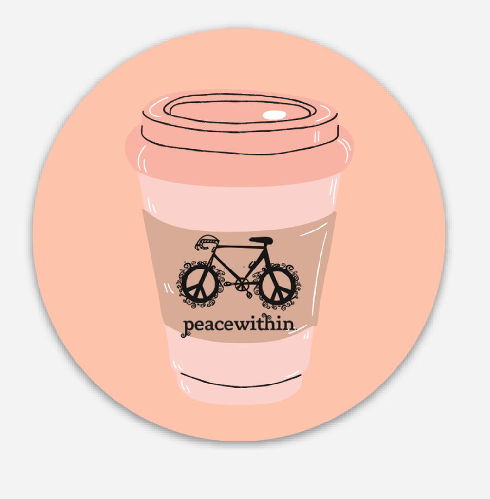 Coffee& bikes sticker