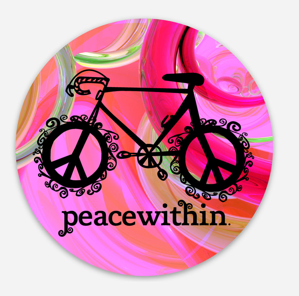 Peace within Bicycle Sticker