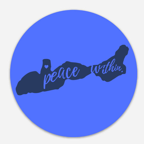 Peace within on lake Geneva Sticker