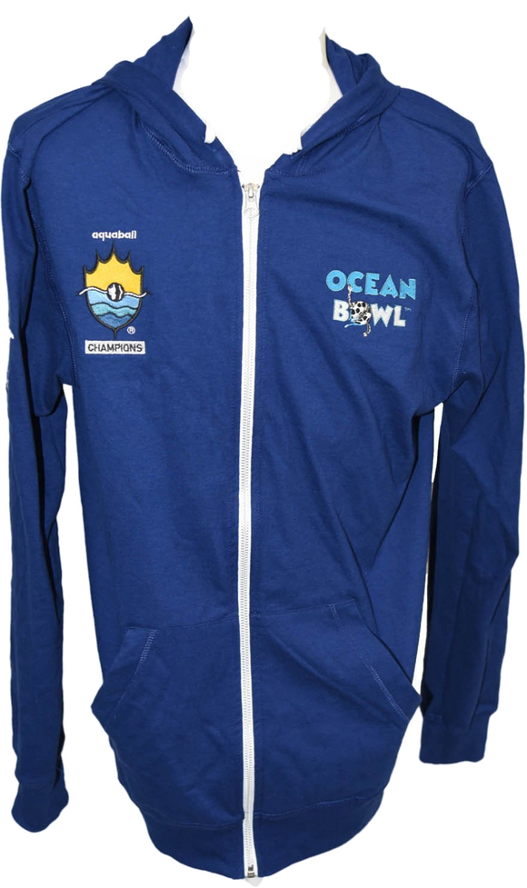 Champions Edition - Zip-Up Blue Ocean Bowl Hoodie