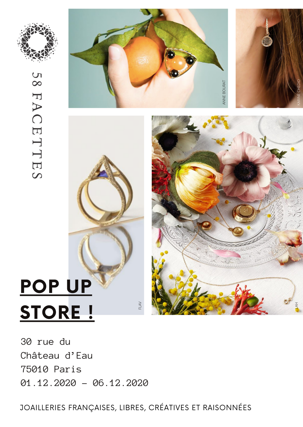 Invitation pop-up store 58 Facettes