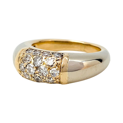 "Bague Van Cleef & Arpels modèle ""Philippine"" en or jaune et blanc, diamants."