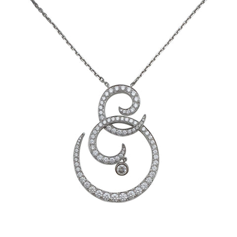 "Pendentif Van Cleef and Arpels ""Oiseau de Paradis"" en or blanc, diamants."