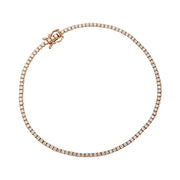 Bracelet ligne en or rose, diamants 1,38 ct