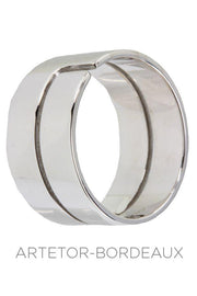 "Bague ""Seventies"" Dinh Van Or Blanc"