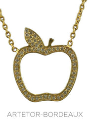 Collier pomme diamants