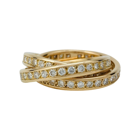 "Bague Cartier ""Trinity"" en or jaune et diamants."