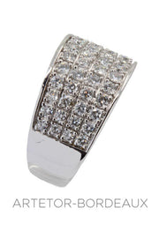 Bague moderne diamants