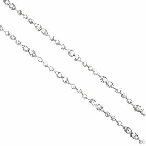 "Collier Cartier ""Dentelle"" en platine, diamants."