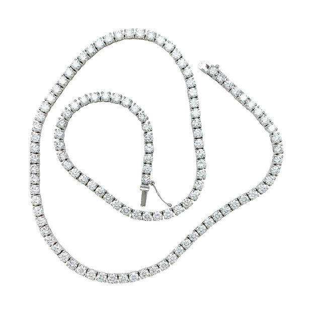 Collier rivière diamants en or blanc.