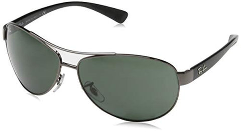 Ray Ban Sunglasses - RB3386 00471 Metal - Acetate Silver - Black Grey Green