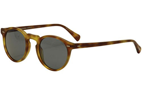 Oliver Peoples Unisex Gregory Peck Sun Semi Matte Light Brown/Indigo Photochromic