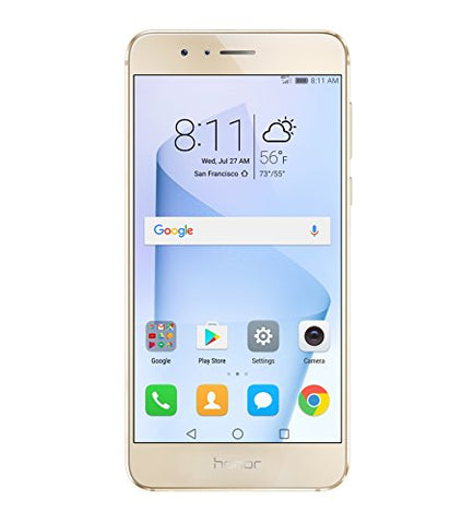 Huawei Honor 8 Unlocked Smartphone 64 GB Dual Camera - US Warranty (Sunrise Gold)