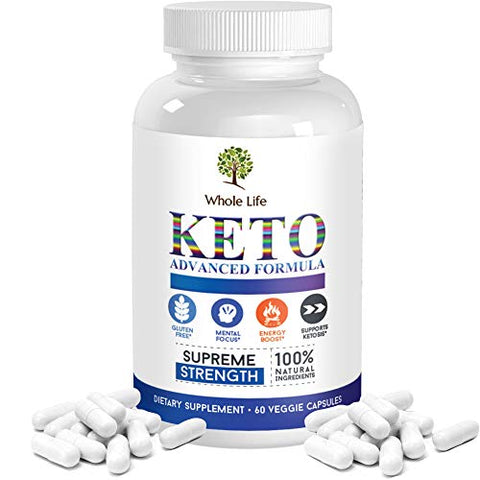 Whole Life Keto Diet BHB Pills - Ketogenic Capsules for Men and Women Keto Supplement BHB Salts - Carb Blocker