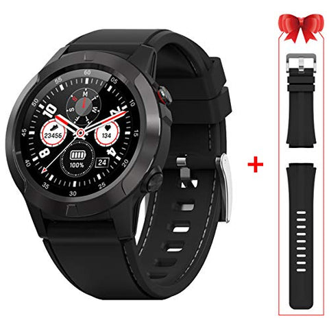 Gandley Smart Watch Built-in GPS Compass- Smart Sport Watches with Sleep HR Monitor Fitness Tracker Blood Pressure Pedometer Barometer Altitude Activity Running Watch for Men Women iOS Android Phone