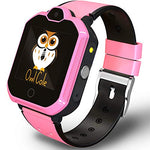 4G GPS Tracker Best Unlocked Wrist Smart Phone Watch for Kids with Sim Camera Video Chat Flashlight Fitness Tracker Birthday Holiday for Children Boys Girls iPhone Android Smartphone (Pink)