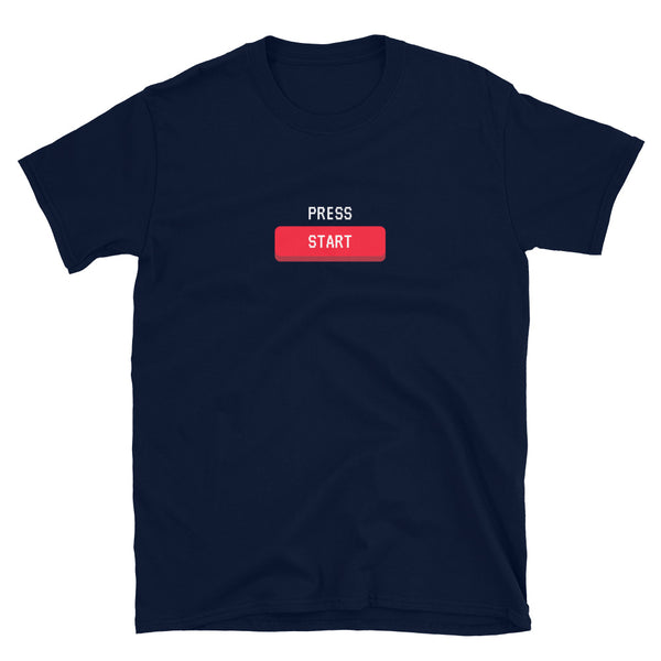 'PRESS START' Short-Sleeve Unisex T-Shirt