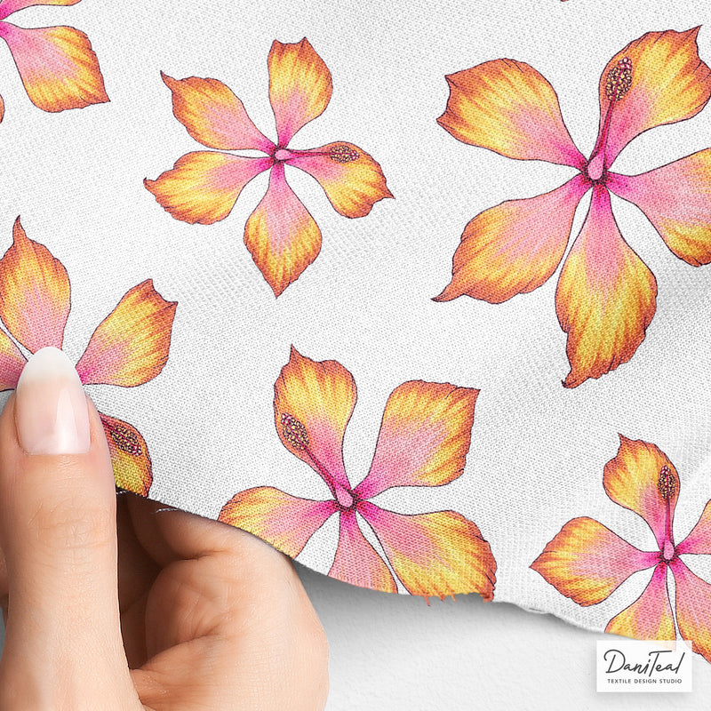 Hibiscus Hand-painted