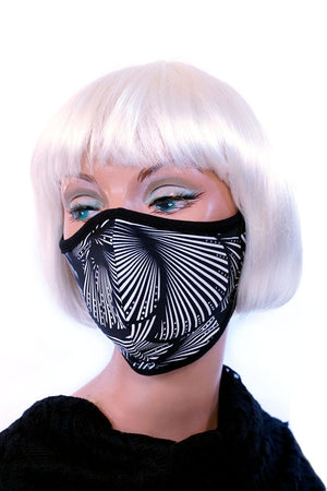 Black & White Shells Mask