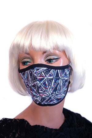 Black Geo Embossed Mask
