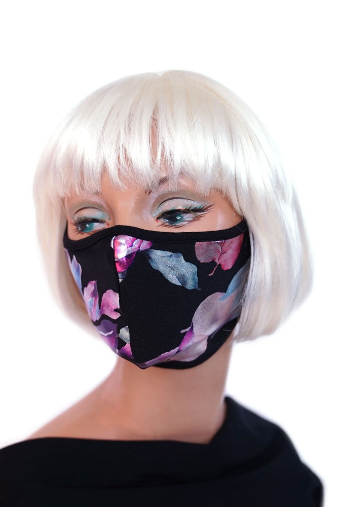 Metallic Floral Mask