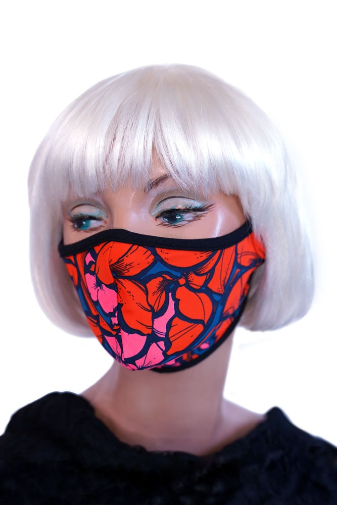 Orange Poppy Mask